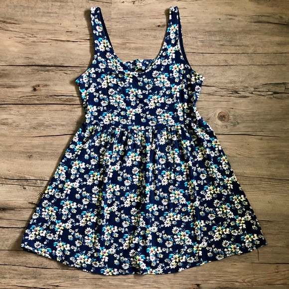 one clothing Dresses & Skirts - Blue Floral Sundress - One Clothing